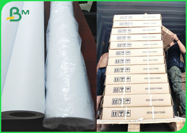 "24 ""x 150ft CAD Gulungan Kertas Plotter Inti Kertas White Bond Engineering 2"" inti"