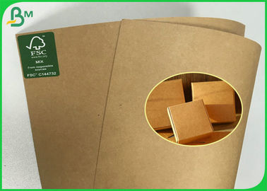 Anti - Curl FSC Disetujui Brown Kraft Paper Roll Dari 190g 200g 230g 250g